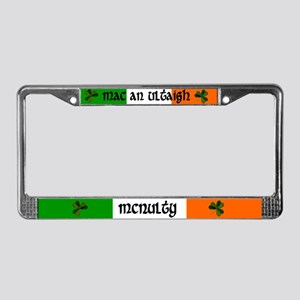 McNulty in Irish & English License Plate Frame