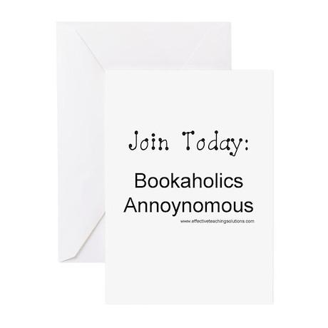 Bookaholics Annoynomous Greeting Cards (Pk of 10)