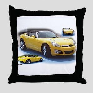 Yellow Saturn Sky Throw Pillow