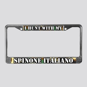 Hunting Spinone Italiano License Plate Frame