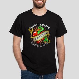 Lyme Disease Heart Tat Dark T-Shirt