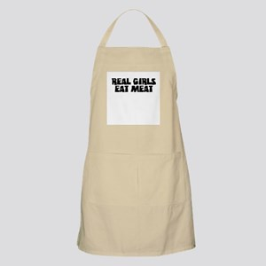"""""""Real Girls Eat Meat"""" BBQ Apron"""