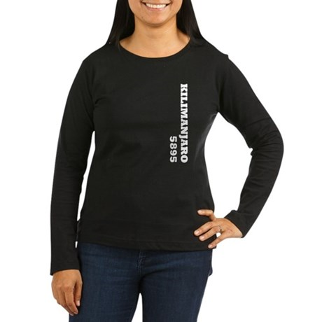 Kilimanjaro (vertical) Women's Long Sleeve Dark T