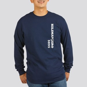 Kilimanjaro (vertical) Long Sleeve Dark T-Shirt