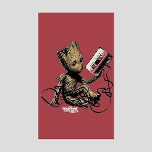 GOTG Groot Cassette Sticker (Rectangle)