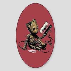 GOTG Groot Cassette Sticker (Oval)