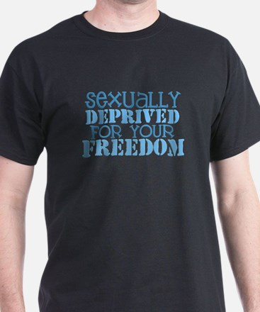 Sexually Deprived - blue T-Shirt