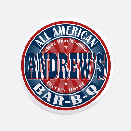 "Andrew's All American BBQ 3.5"" Button"