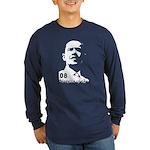 Obama 2008 Stencil-Long Sleeve Dark T-Shirt