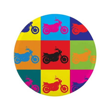 """Biking Pop Art 3.5"""" Button (100 pack)"""