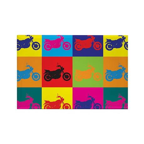 Biking Pop Art Rectangle Magnet (10 pack)