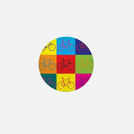 Bicycling Pop Art Mini Button