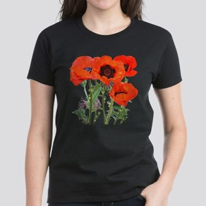 Red Poppies Women's Dark T-Shirt