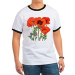 Red Poppies Ringer T