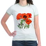 Red Poppies Jr. Ringer T-Shirt