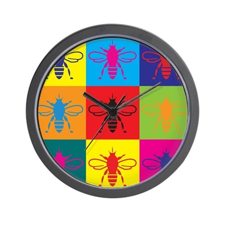 Bees Pop Art Wall Clock