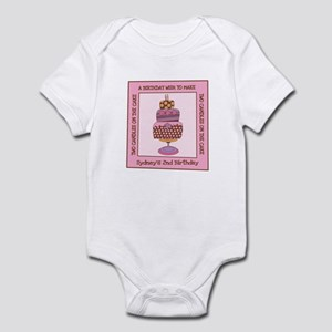 Two Candles On The Cake Infant Onesie