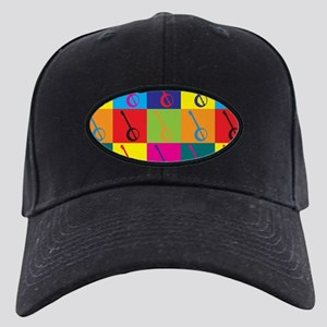 Banjo Pop Art Black Cap