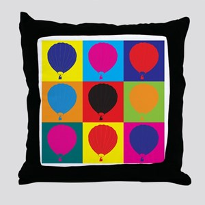 Ballooning Pop Art Throw Pillow