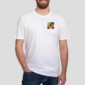 Badminton Pop Art Fitted T-Shirt