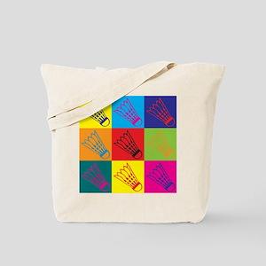 Badminton Pop Art Tote Bag