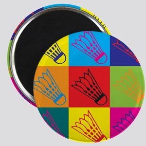 Badminton Pop Art Magnet