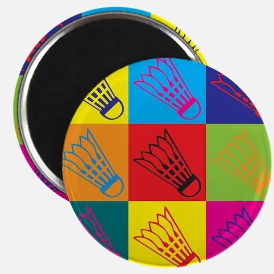 Badminton Pop Art Magnet