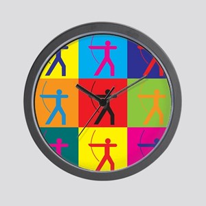 Archery Pop Art Wall Clock