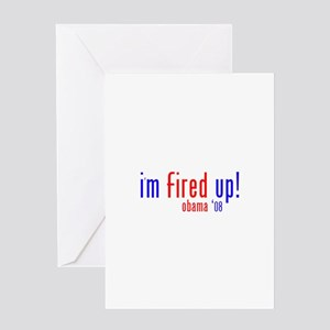 i'm fired up! Greeting Card