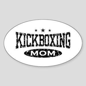 Kickboxing Mom Oval Sticker