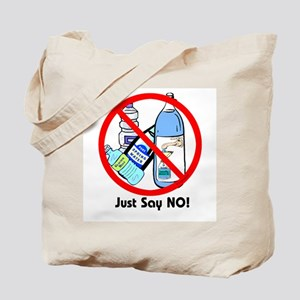 No To Bottled Water Tote Bag