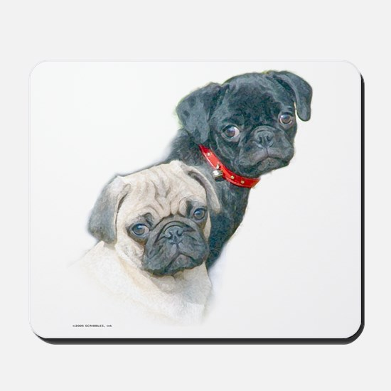 Two Pugs Mousepad