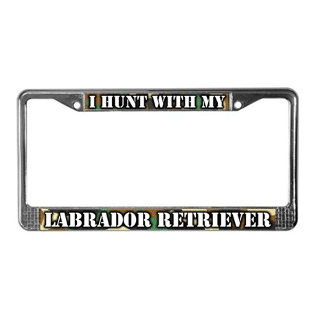 Hunting Labrador Retriever License Plate Frame