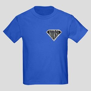 SuperNurse(metal) Kids Dark T-Shirt