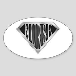SuperNurse(metal) Oval Sticker