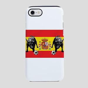 Spanish Football Bull Flag iPhone 8/7 Tough Case