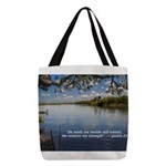 Beside Still Waters Polyester Tote Bag