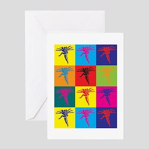Aerobics Pop Art Greeting Card