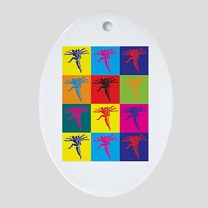 Aerobics Pop Art Oval Ornament