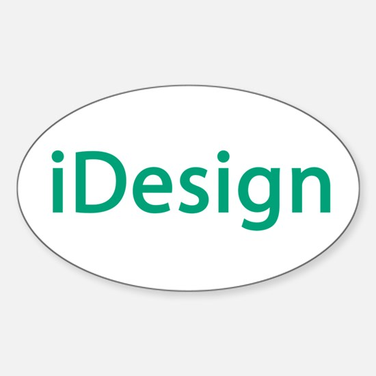 iDesign, Teal Interior Design Oval Decal