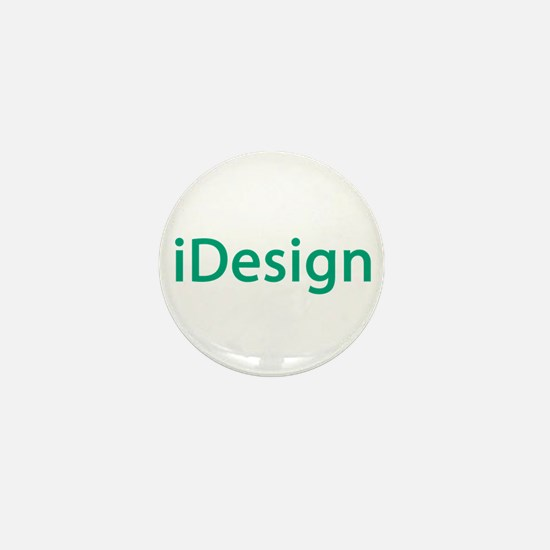 iDesign, Teal Interior Design Mini Button