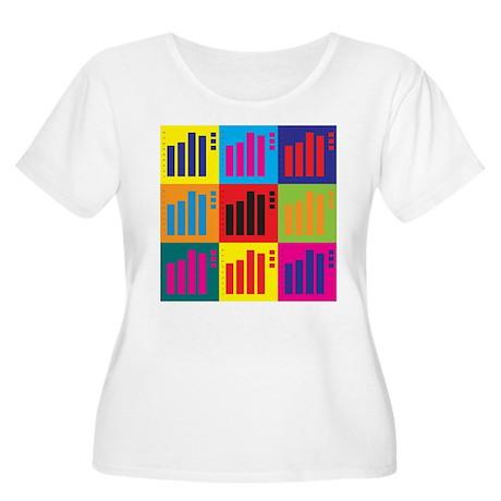Actuarials Pop Art Women's Plus Size Scoop Neck T-