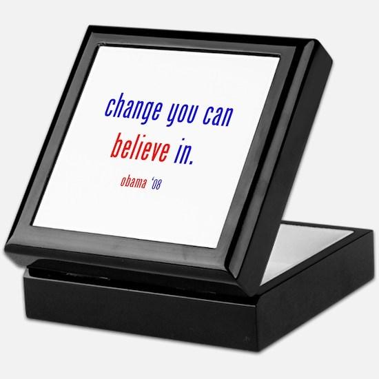 change you can believe in Keepsake Box