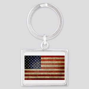 Distressed American Flag Keychains