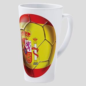 Spanish Futbol 17 Oz Latte Mug
