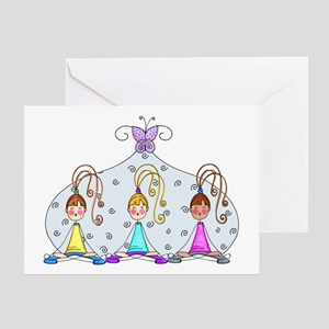 Yoga Trio Greeting Card
