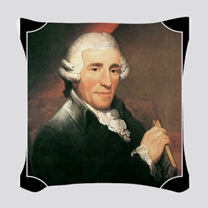Josef Haydn Woven Throw Pillow