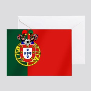 Portugal Football Flag Greeting Card