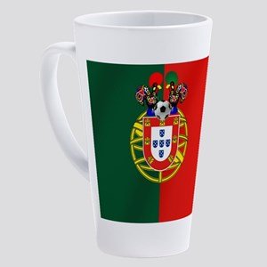 Portugal Football Flag 17 oz Latte Mug