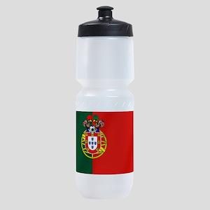 Portugal Football Flag Sports Bottle